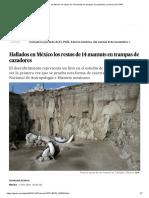 14 mamuts prehistóricos en México