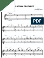Anastasia [Sheet] Once upon a december-movie anastasia piano