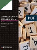 LA ALFABETIZACIÓN INICIALEN LAS PROPUESTASEDUCATIVAS DE MÉXICO.
