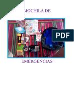 MOCHILA DE EMERGENCIAS-EMILIA LACHY