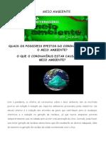 CORONAVÍRUS E O MEIO AMBIENTE (6ºAnos-1)