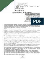 16.09.2020 Portaria SPPREV-205-2020 Acúmulo de Pensões
