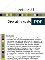 Operating system lecture #1