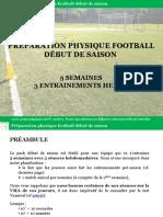 PRÉPARATION PHYSIQUE FOOTBALL DÉBUT DE SAISON