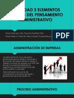 ACTIVIDAD 3 ELEMENTOS BASICOS DEL PENSAMIENTO ADMINISTRATIVO 1