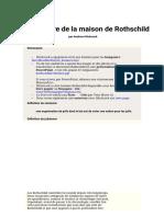 L'Histoire de La Maison Rothschild