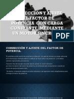 maquinas electricas- correcion y ajuste del F.P