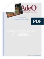 Características generales del béisbol