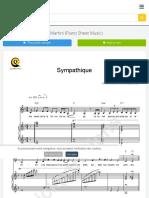 Sympathique Piano Sheet Music - Pink Martini (Digital Sheet Music)