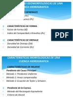 CLASE 03 PARAMETROS GEOMORFOLOGICOS DE UNA CUENCA