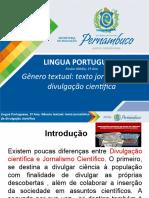 Gênero textual - texto jornalístico de divulgação científica.ppt