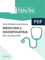 Test ufficiale Medicina-Odontoiatria 2020