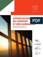 Appreciation Du Confort Et Des Ambiances - Protocole