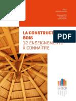 La Construction Bois - 12 Enseignements a Connaitre