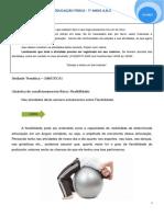 EDUCAÇÃO FÍSICA - 7 ANOS - GINASTICA- FLEXIBILIDADE