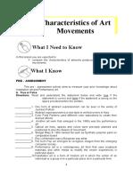 MAPEH10_ARTS Q1 Module 2 Characteristics of Art Movements V3 (1)
