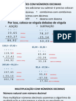 Operações com Números Decimais  Prof João Carlos