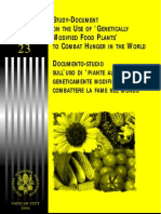 Study-Document on the Use of ''Genetically Modified Food Plants'' to Combat Hunger in the World