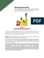 Concept of Entrepreneurship
