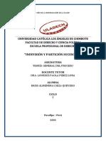 4.- Indivisión y partición sucesoria