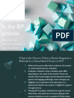 stakeholders in the iep process