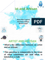 Artist and Artisan