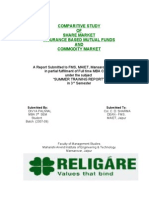 Comparitive Study of Share Market Insurance Based Mutual Funds and Commodity Market
