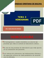 TEMA 3 y 4. HEMOGRAMA