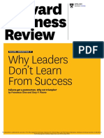 e. Why Leaders Dont Learn from Success