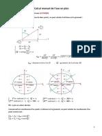 Calcul manuel Tracé en Plan1