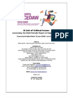 LIST OF CRITICAL ISSUES PROPOSED BY ITALIAN NGO concerning 6th periodic report of Italy on CEDAW