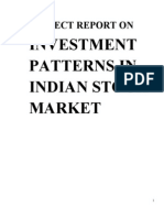 Stock Market Trends and Investment Pattern