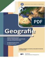 Geografie. Repere metodologice