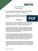 354 Resolución Reglamentación de Opciones de Grado y Proyecto de Investigación.pdf