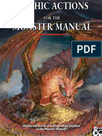 Mythic Actions for the Monster Manual