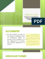 1 - Other Terminologies in Handwriting Examination