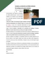 Aguas Residuales Municipales y su alteración en el Medio Ambiente