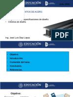 Reglamentos, Especificaciones de diseño, Criterios de diseño