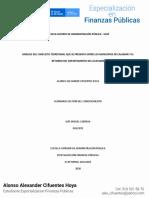 ENSAYO Analisis de conflicto territorial entre Municipios en Guaviare Finanzas Publicas