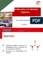 SESIÓN 1 QUIMICA ORGÁNICA  Pripiedades del carbono y de los compuestos orgánicos