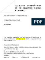 ECUACIONES CUADRÁTICAS-2