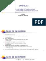 2. Modelo General de un enlace de telecomunicaciones - Capacidad de canal