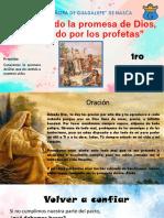 1. Conociendo la promesa de Dios, anunciado por los profetas