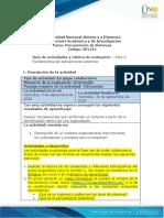 Guia de actividades y rúbrica de evaluación - Unidad 1 - Fase 2 - Fundamentos del pensamiento