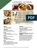 Menu de La Cuisine de Meme Moniq Du 12 Au 18 Septembre