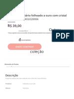 Pingentes | JOIA FOLHEADA | PINGENTE SOLITÁRIO FOLHEADO A OURO COM CRISTAL - Rommanel