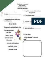 Guia de comprensión lectora Cuca y Camilo