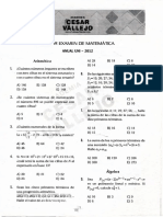 Tercer Examen de Maematicas Anual UNI - 2012
