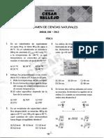 Sexto Examen de Ciencias Naturales Anual UNI - 2012