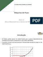 12 - Altura Manométrica e Cálculo de NPSH - Parte  IV